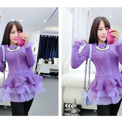 2016 In Stock Cheap Purple Knit Swe..