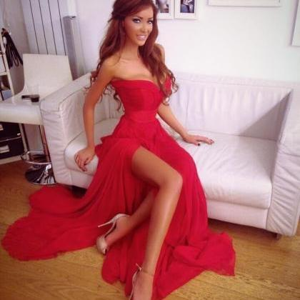 2015 Hot sales Red A-line Vestido d..