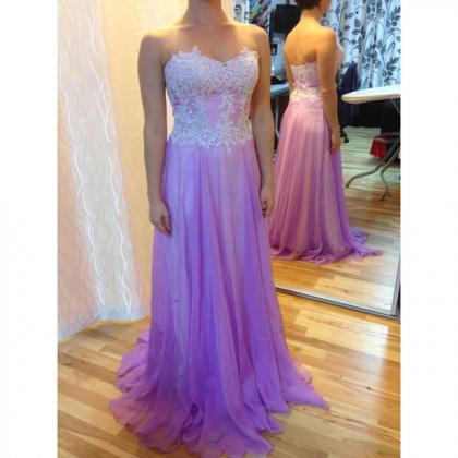 2016 A Line Chiffon Purple Evening ..