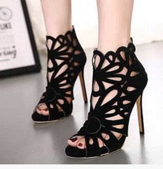 Summer Black Women Shoes for Women Shoes Unique Pump Heels for Evening Shoes Prom Party Shoes