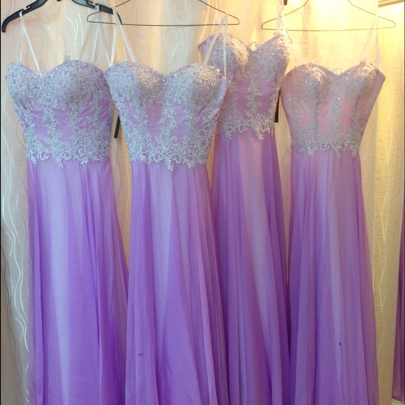 2016 A Line Chiffon Purple Evening Dresses Appliques Pleat Prom Dress Party Dress Long Formal Dresses