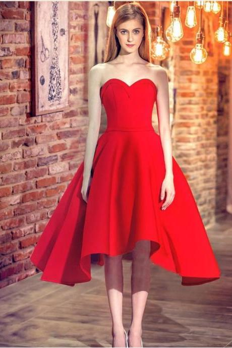 New Style Sexy Prom Dresses Ball Gown Sweetheart Corset Back Knee Length Prom Party Dress Elegant Evening Gown
