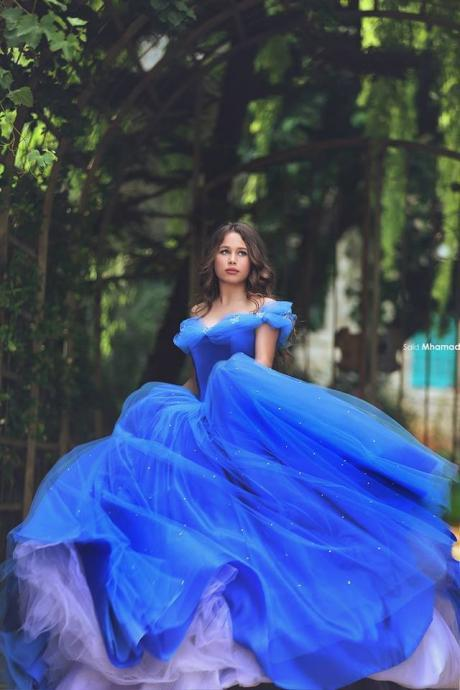 Royal Blue Quinceanera Dresses Ball Gown Off The Shoulder Vestidos De 15 Ano Girls Party Pageant Gowns Long Prom Dress