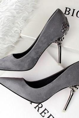 best selling grey pumps bridal wedding shoes for wedding stiletto high heels for prom party evening