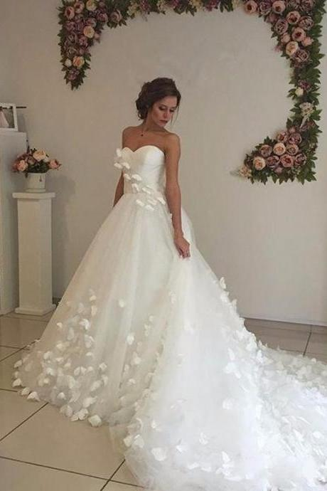 Custom Size A Line Tulle Sweetheart China Country Western Bridal Bride Dresses Wedding Gowns Vintage Wedding Dresses