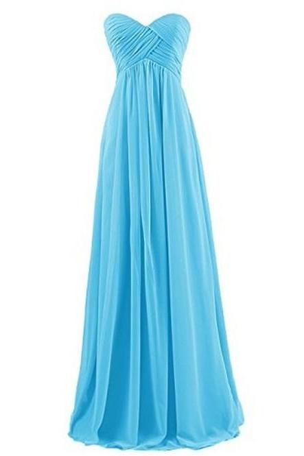 Hot Sale Sheath/Column Sweetheart Chiffon Bridesmaid Dresses