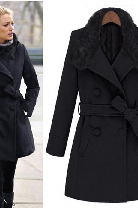 2016 High Quality New Arrive Autumn/Winter Women's Outerwear women winter woolen Coats