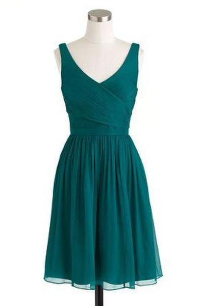 1950S Vintage Prom Party Gowns 2016 Green V Neck Mini Short Homecoming Party Dress