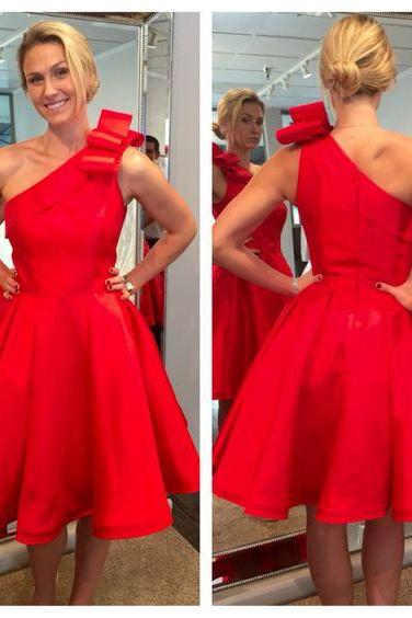 Red Homecoming Dresses, One Shoulder Prom Dresses, Mini Party Dresses, Sexy Cocktail Dresses