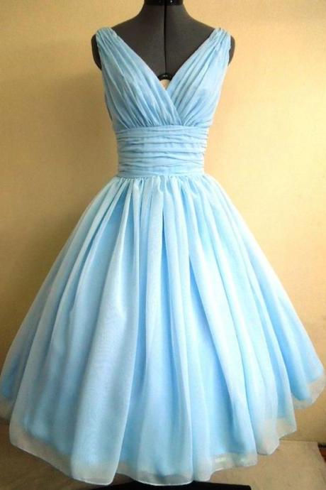 1950S Vintage Ball Gown Homecoming Dresses V Neck Mint Mini Short Cocktail Dress Party Gowns Prom Dress