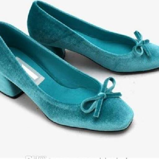 mary jane wedding shoes 2017 green/blue/burgundy vintage velvet pumps for women wedding evening party prom