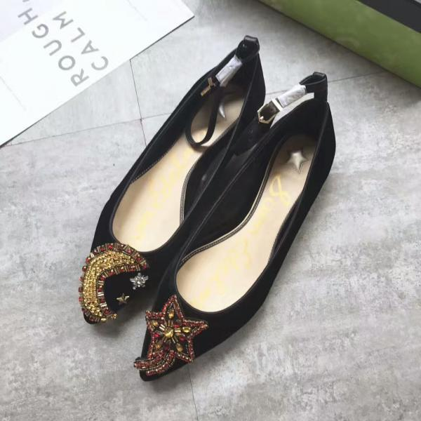 Velvet Moon and Star Pointed-Toe Ankle Strap Pumps