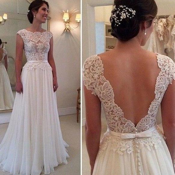 2016 New Hot Selling Custom Made Wedding Dresses Vestido de Noiva Casamento Robe De Mariage Lace Applique See-though Pleat