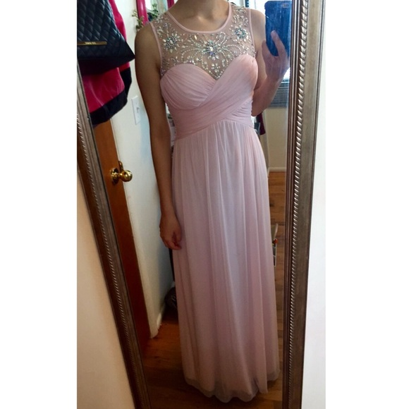 2016 Pink Chiffon Prom Dresses Beading Crsytals Pleat vening Dress Party Dress Long Formal Dresses